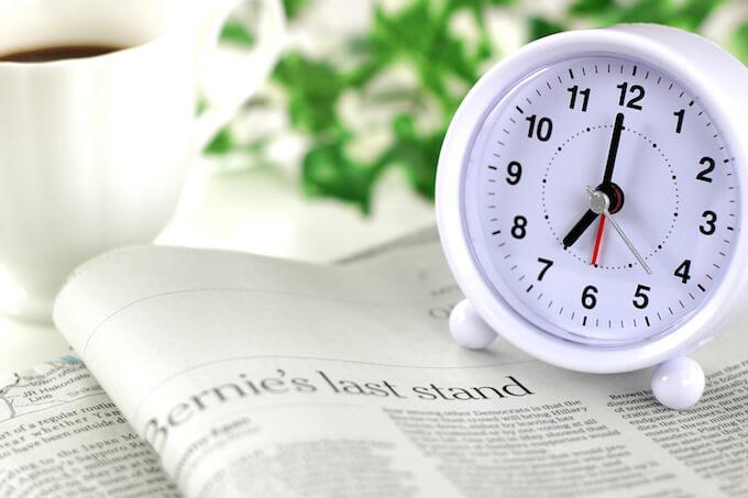 新聞とめざまし時計